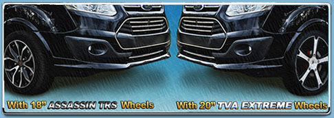 all our ford transit wheels are load rated and road legal click here to see our full transit custom styling section